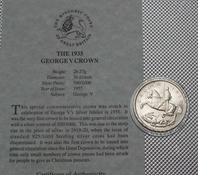 George V Silver Crown 1935 The Great Britain Collection & Cert