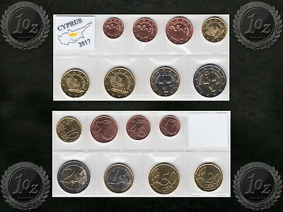 CYPRUS complete EURO SET 2017 - 8 coins SET (1 cent - 2 Euro) UNCIRCULATED *NEW