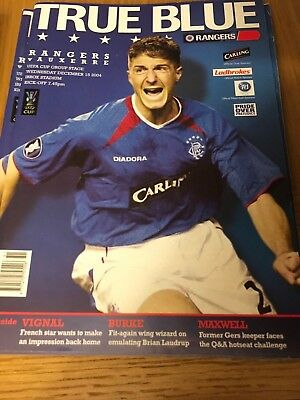 RANGERS v AUXERRE 15.12.2004 UEFA CUP