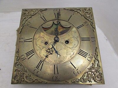18th Century Thomas Lister, Halifax Grandfather Clock Moon Phase Movement