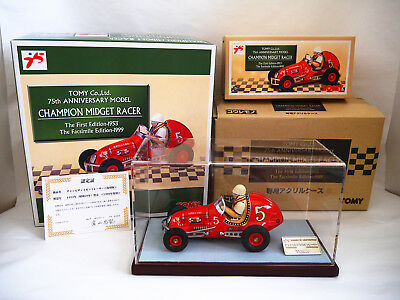 NOS TOMY CHAMPION MIDGET RACER #5 Yonezawa with Box Tin Litho Friction Japan (2)