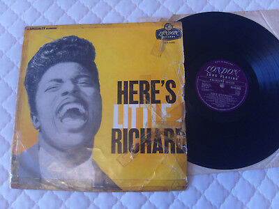 LITTLE RICHARD - Here's Little Richard Original London LP  Fair cond. Cover poor
