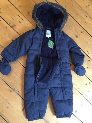 John Lewis Baby Snow Suit All In One Winter Suit 12-18 Mths