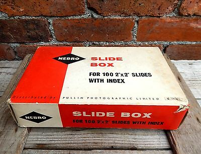 Vintage Nebro Storage Case Box for Photographic Photo Slides 35mm - Capacity 100