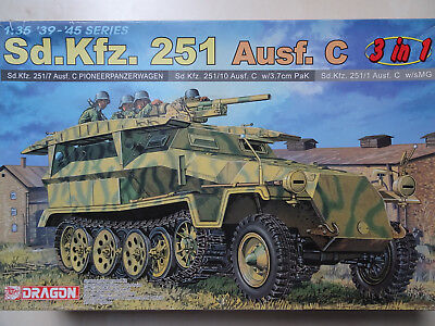 Sd.Kfz 251/C Halbkette (3 in 1 - Ausf. 251/1, 7, 10), 1/35, Dragon 6224