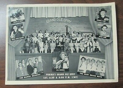 1950's WSM Purina's Grand Ole Opry Group Picture photograph