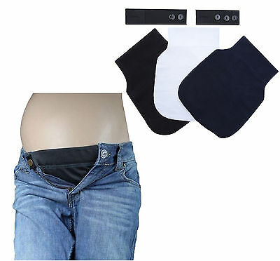 Set of 5 Maternity Pregnancy waistband ADJUSTABLE elastic waist extender Ship US