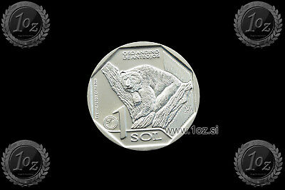 PERU 1 SOL 2017 (ANDEAN SPECTACLED BEAR) Commemorative Coin * UNCIRCULATED * NEW
