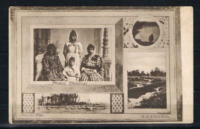 new zealand maori maidens printed postcard