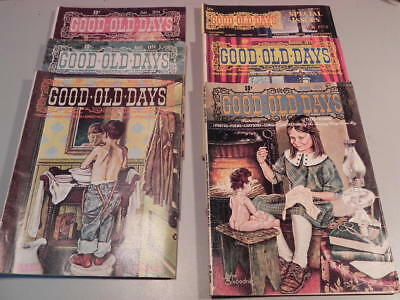 Vintage Lot Of 6 GOOD OLD DAYS Magazines Year Of 1974