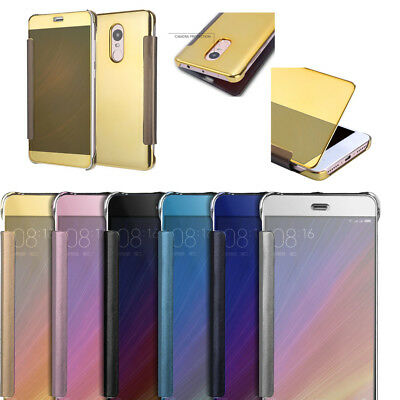 New Luxury Mirror Clear Ultra Slim View Flip Leather Case Cover For Xiaomi Phone