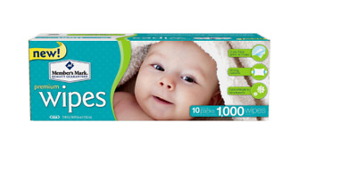 Members Mark Premium Diaper Baby Soft Wet Wipes 1000 ct 10 packs of 100