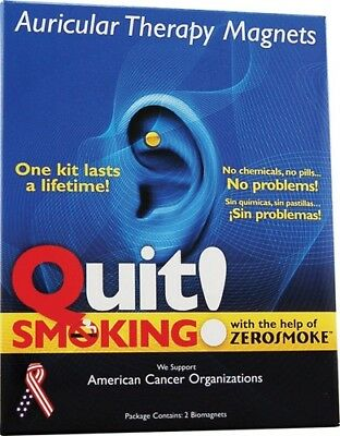 Zerosmoke Stop Quit Smoking Weight Loss Acupressure Magnet Therapy UK SELLER