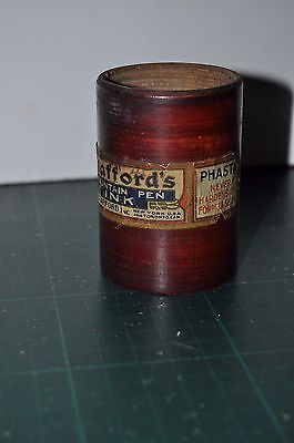 STAFFORD'S INK wooden case, for Phasta fountain pen ink