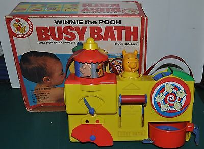 Vintage WINNIE The POOH Bath Toy set Kohner BUSY BATH, with box
