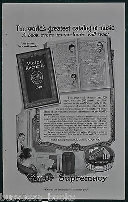 1919 Victor Talking Machine Co. advertisement, Victor Records Catalog, Victrola
