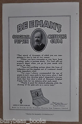 1918 Beemans Chewing Gum advertisment, American Chicle Company