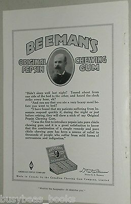 1918 Beemans Chewing Gum advertisement, American Chicle Company
