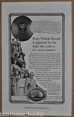 1919 VICTROLA RECORDS advertisement, Victor Talking Machine Co, opera singers