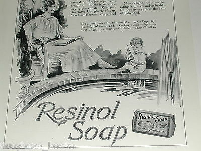 1923 Resinol Soap advertisement, 20's era Mom, Dad & Son