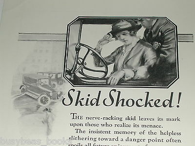 1921 Weed Anti-Skid Tire Chains advertisement, American Chain Co.