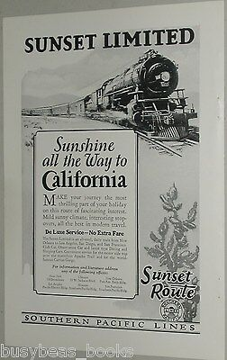 1926 Southern Pacific RR advertisement, Sunset Limited
