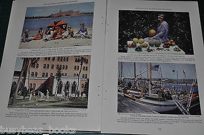 1930 magazine article about FLORIDA, history, people, etc, 41 color photos