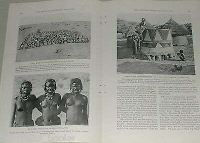 1929 magazine article on AFRICA, Sudan, Native Tribes, 28 photos African Natives