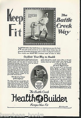 1929 Sanitarium Equipment Co advertisement vintage vibrating belt Health Builder