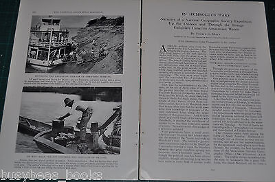 1931 magazine article ORINOCO River EXPEDITION Venezuela Brazil Natives animals