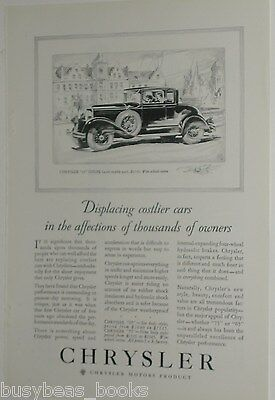 1929 Chrysler advertisement page, CHRYSLER 65 Coupe