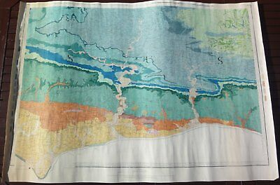 """Ordnance Survey 1"""" Geological Map Old Series Sheet 9 W. Sussex Hand Coloured"""