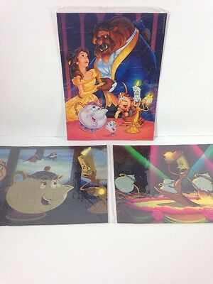 Beauty and the Beast Puzzle Set of 3 Disney Classic Pizza Hut 1992