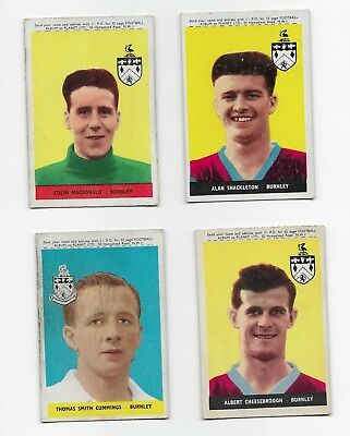 Collection Burnley A&bc Football Cards England Fa Cup