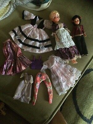 Job Lot Vintage Dolls And Clothes Sindy
