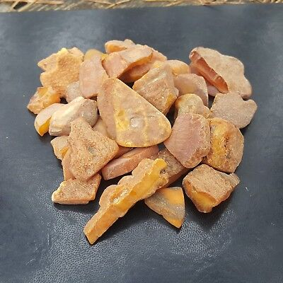 GENUINE BALTIC AMBER. RAW STONES  100 gr.  YELLOW