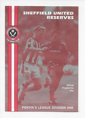 Sheffield United Reserves V Manchester United Res 1994 Mint Condition Fa Cup