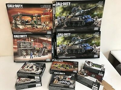 Mega Bloks Call Of Duty Bundle NOT COMPLETE Battle Tank, Mob of the Dead, Zombie