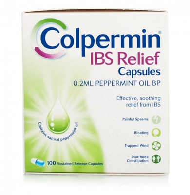 Colpermin IBS Relief Capsules - Peppermint Oil - 100 Capsules EXP:1/2020