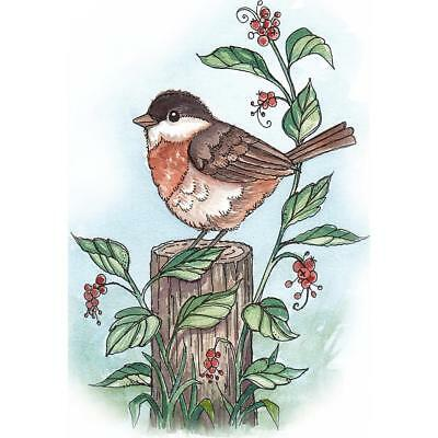 "CottageCutz Stamp & Die Set Sparrow On Post 2.2""X3.1"" Stempel Stanz Set Spatz"