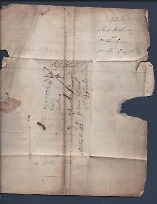 Gb:  1811 Solicitors Letter Chesterfield Straight Line Cancel - Very Toned.