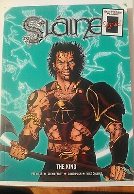 Slaine the king - Glenn Fabry and Pat Mills signed -2000 ad - Forbidden Planet