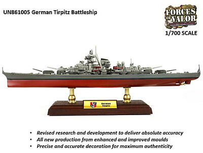 FORCES OF VALOR German Battleship Tirpitz 861005A 1:700 Diecast Ship Model