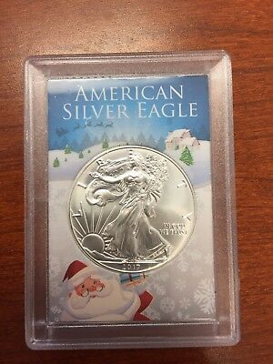 2017 Silver American Eagle 1 oz of silver in BU condition (Christmas Gift)