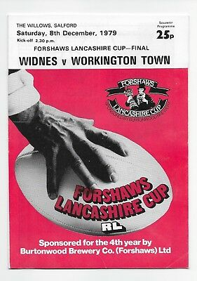 Widnes V Workington 1979 Rugby League Lancashire Cup Final @ Salford England