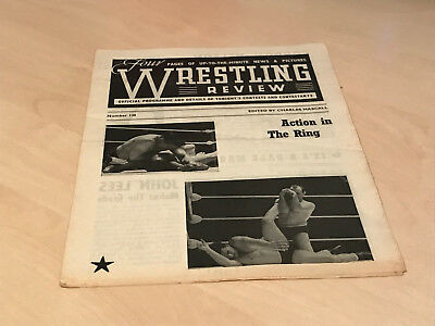 1950s Wrestling Review Official Banbury Programme No.130 - Khan v Nelson
