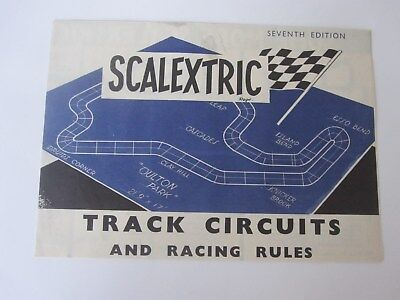Scalextric Track Circuits And Racing Rules - Seventh Edition
