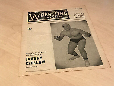 1950s Wrestling Review Official Banbury Programme No.211 - Bence v Farmer Allen
