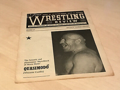 1950s Wrestling Review Official Banbury Programme No.217 - Szakacs Gordienko