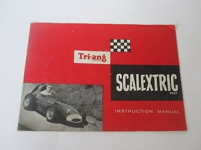 TRI-ANG SCALEXTRIC INSTRUCTION MANUAL (1960's)